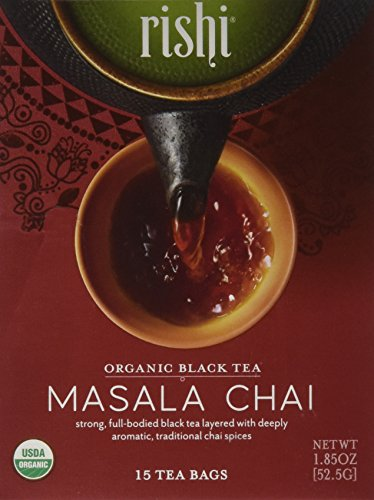 Rishi, Masala Chai, Organic Black Tea, 15 Tea Bags