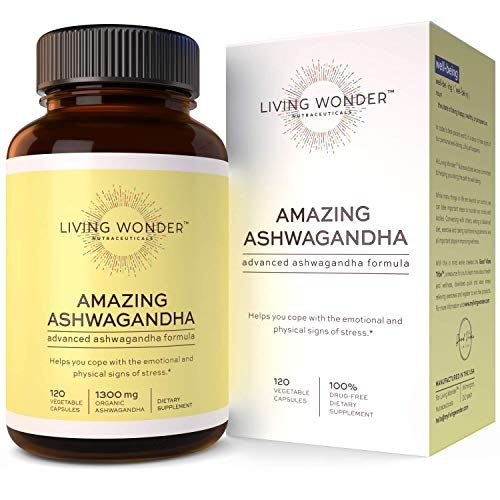 Ashwagandha Capsules for Stress Relief - Organic Ashwaganda Root Extract Supplement for Women & Men - Natural Anti Anxiety Supplements with Black Pepper & Herbal Blend - Aswaghanda Powder 120 Pills