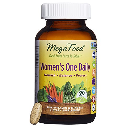 Women Multivitamin 90 Tabs (MegaFood - Women's One Daily, Supports Healthy Emotional Balance & Stress Response, 90 Tablets)