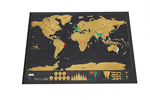 Moments Rub (Scrape Off World Map for Family Gift (32.3 x 23.6 inches),Rub off World Map,Perfect Gift for Travelers to track the places you travel of World on Map for Adventurers)