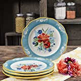 The Pioneer Woman Spring Bouquet 8.9-Inch Salad Plates, Set of 4