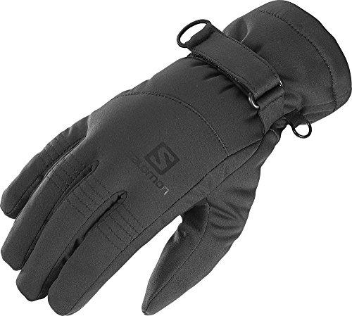 Salomon Hybrid Glove with Windproof Softshell and Touchscreen Fabric (Black, X Large) (Salomon Ski Gloves)