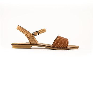 Porronet Sandals Vaquetilla Natural Cuero E16 Brown Size: 6.5