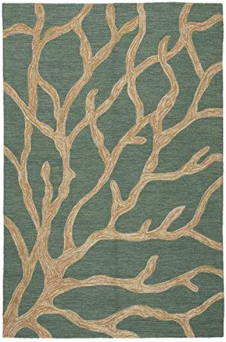 Jaipur Living Coral Indoor/ Outdoor Novelty Blue Area Rug 8' X 8'