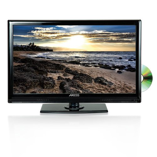 AXESS TVD1801-24 24-Inch 1080p LED HDTV, Features 12V Car Cord Technology, VGA/HDMI/SD/USB Inputs, Built-In DVD Player, Full Function ()