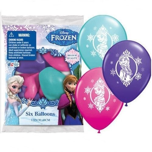 Frozen Party Balloons (Frozen 12 Inch Happy Birthday Latex Balloons 6)