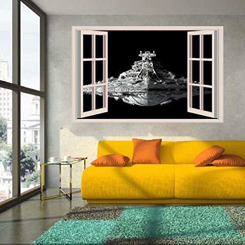 "Star Wars Spacecraft Destroyer 3D Window Wall Stickers Kids Art Mural Decal 18"", 24""or 36"" from Karma Decals"