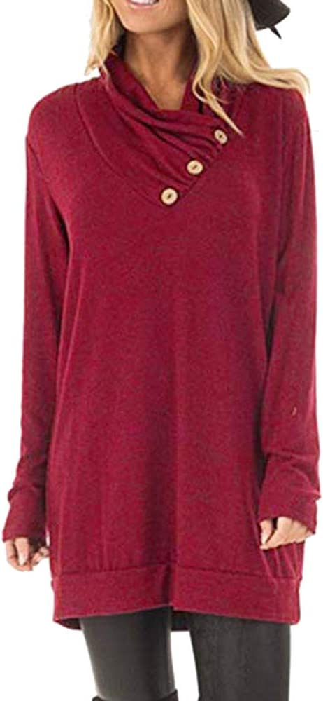 Blouses for Womens,DaySeventh Women Casual Long Sleeve Solid Striped Hooded Sweatshirt Blouse Top with Pockets