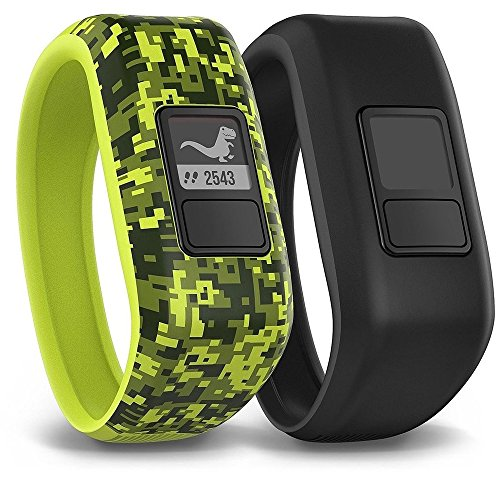 (Garmin Vivofit Jr. Tracker with 2 Bands, Digi Camo and Black)