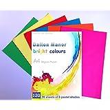 Dalton Manor Lot de 120 feuilles de papier 6 couleurs assorties Format A4 80g/m²