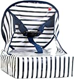Baby-To-Love Easy Up, Folding Portable Travel Booster Seat for Toddler (Blue Stripes)