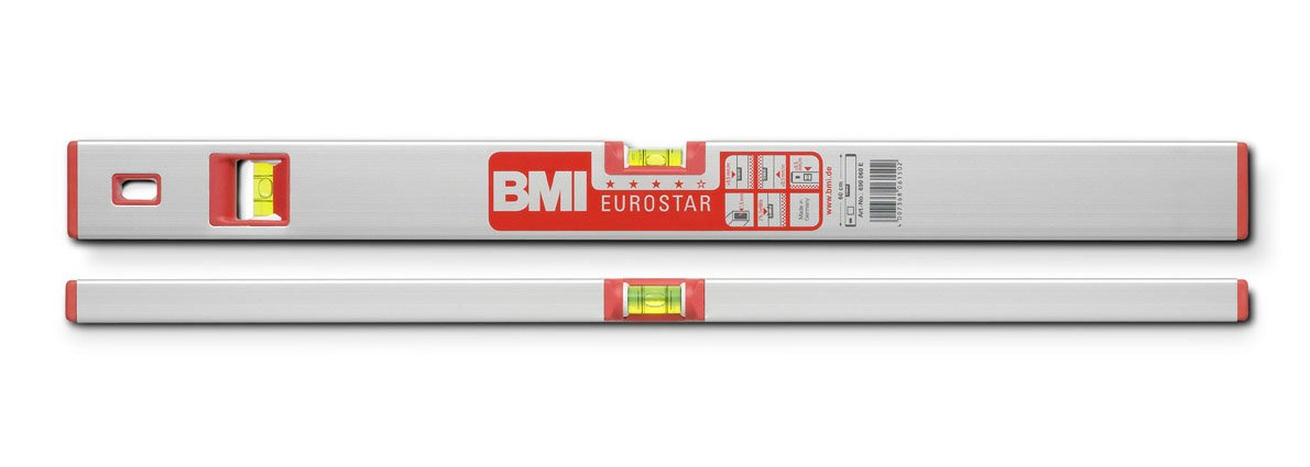 L/änge 80 cm eloxiert mit Magnet BMI 691080M Wasserwaage Alustar