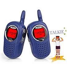 Walkie Talkies for Kids, 3-Mile Range 22 Channel FRS/GMRS Kids Walkie Talkies with 2 Way Radio for 5-year old Boys and Girls(Blue)