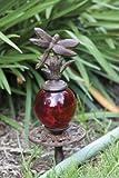 DRAGONFLY globe Hose HOLDER guide garden YARD ART NEW