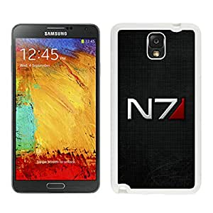Unique Note 3 Case,mass effect n7 font background shadow White Phone Case For Samsung Galaxy Note 3 Cover Case