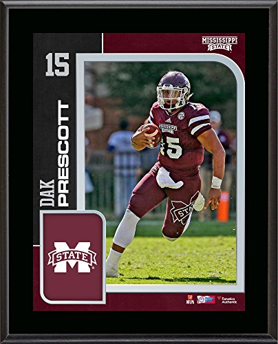 Dak Prescott Mississippi State Bulldogs 10.5'' x 13'' Sublimated Player Plaque - Fanatics Authentic Certified Mississippi State Player