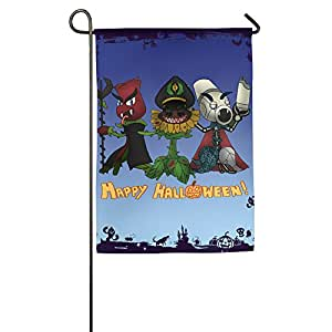 Plantas Vs Zombies Halloween casa decorativa bandera