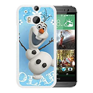 Fashionable And Unique Designed Cover Case With OLAF Snowman White For HTC ONE M8 Phone Case