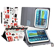 Emartbuy® Teclast X16 Plus 10.6 Inch Tablet Universal Range ( 10 - 11 Inch ) Toy Town Multi Angle Executive Folio Wallet Case Cover With Card Slots + Stylus