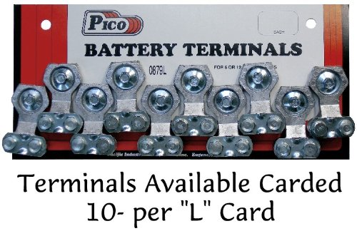 Pico 0879L Emergency Side Mount Battery Terminal Fits All Cables 10 Per Card