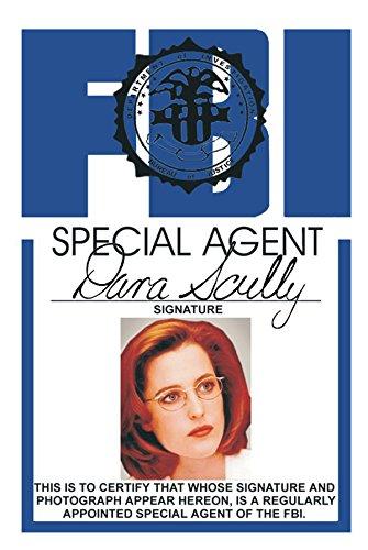 Skully FBI Fun Fake ID License Necklace ()