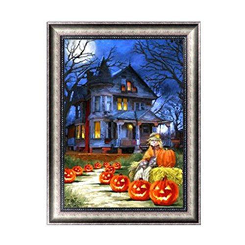 Gigory 5D Diamond Embroidery DIY Halloween Pumpkin Painting Kits Arts, Crafts & Sewing Cross Stitch Home Decor (Halloween Pumpkin Drawing Step By Step)