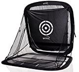 Spornia SPG-5 Golf Practice Net - Automatic Ball Return System W/Target Sheet, Two Side Barrier (Without Roof)