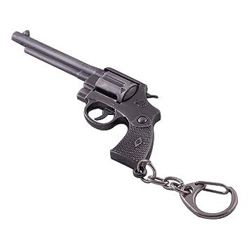Mallofusa llavero pistola en miniatura gris metal Ruger ...