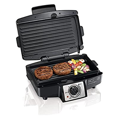 Hamilton Beach 25332 Easy Clean Indoor Grill with Removable Grid from Power Sales and Advertising Inc