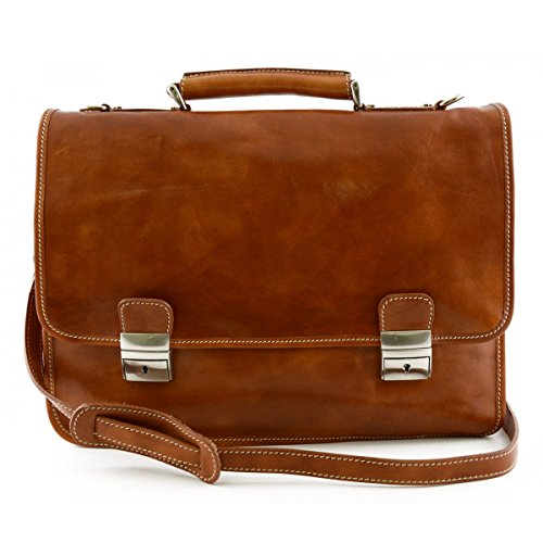 Cartella In Pelle Colore Cognac - Pelletteria Toscana Made In Italy - Business