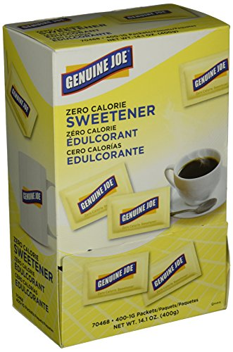 Genuine Joe GJO70468 Sucralose Zero Calorie Sweetener Packets Dispenser Box, Sugar Substitutes (Pack of (Calorie Sweetener Packets)
