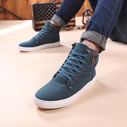 De Lona Hombres Con Zapatos Altos Correr Verde Cordones Casual 47 Oxfords 39 xH1qwfY
