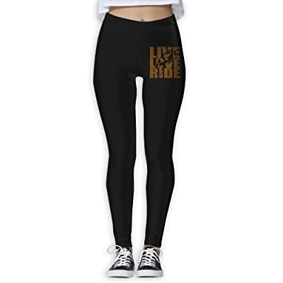 DDCYOGA Live Love Ride Horses Women's Tights Activewear Yoga Leggings Sport Workout Running Pants For Girls