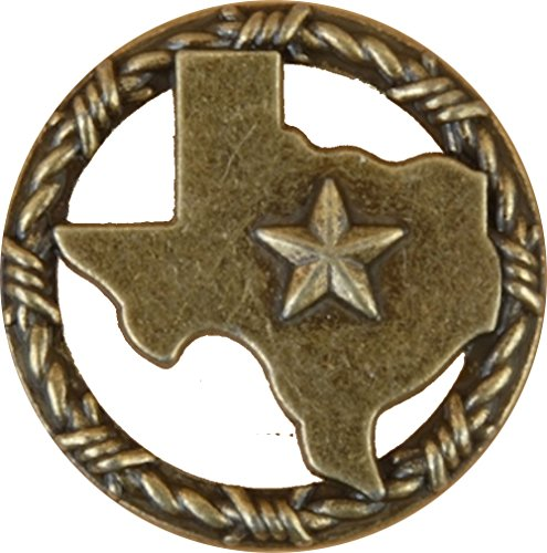 Set of 6 Texas with Barbwire Ring Lone Star Drawer Cabinet Pull Southwest Rustic Texas (Antique ()