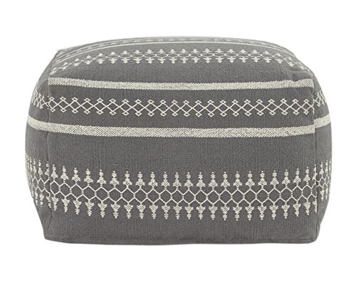 Flamant Joline 23.5'' Square Pouf, Gray by Flamant
