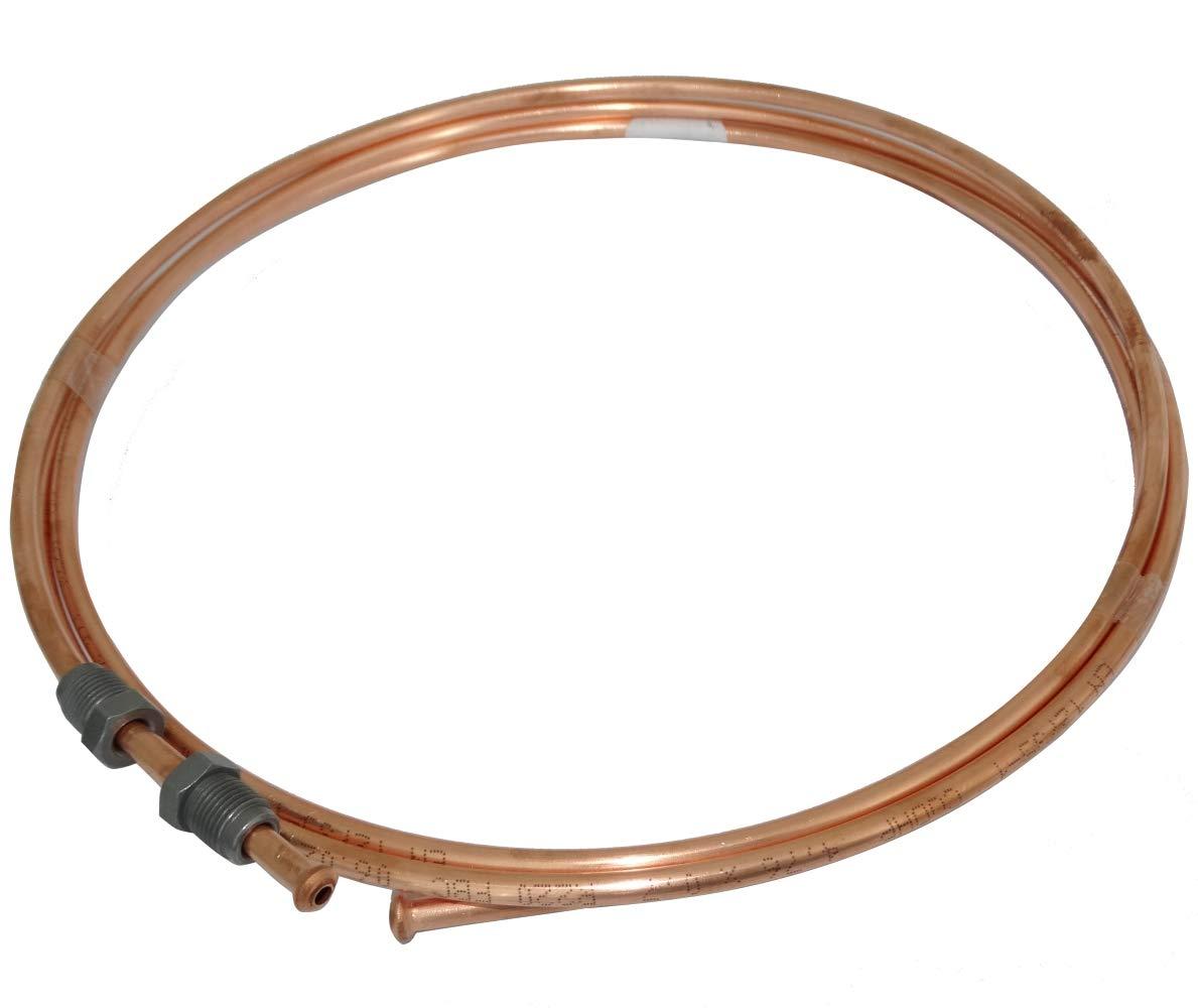 Conduite de Freins Tuyau Tube en cuivre /Ø4.76mm avec raccords M10x1//M10x1 170cm AERZETIX