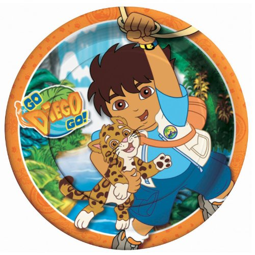 Go Diego Go Dinner Plates by Amscan