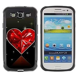 Suave TPU GEL Carcasa Funda Silicona Blando Estuche Caso de protección (para) Samsung Galaxy S3 III I9300 / CECELL Phone case / / Love Diamond Heart /