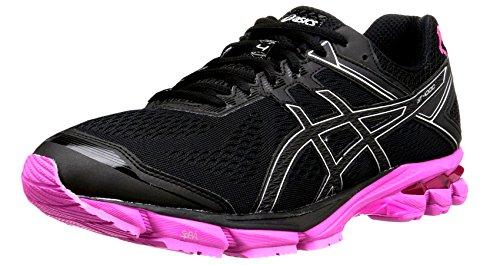 ASICS Men's GT 1000 4 PR Running Shoe, Black/Silver/Pink Ribbon, 9 M US