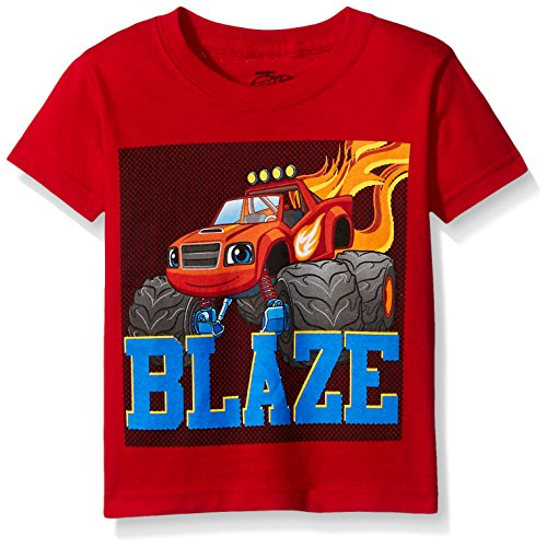 Blaze and The Monster Machines Little Boys' Toddler Short Sleeve T-Shirt, Red, 4T Blaze Apparel