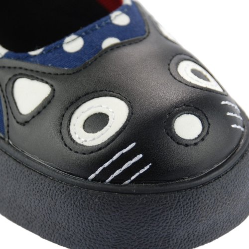 T.U.K A8572L TUK EU 36 T.U.K Shoes Navy Polka Mary Jane Sneaker Kitty Pop FLAT Rockabilly Vinta