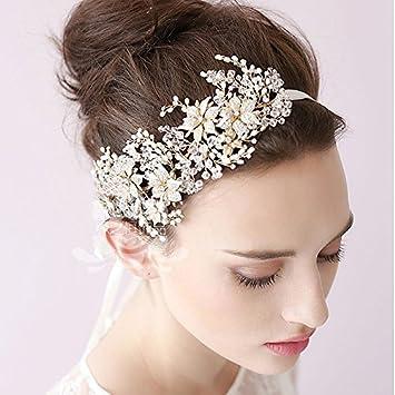 Amazon Handmade Bridal Hair Headband Wedding Hairpiece Tiara