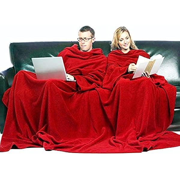 Pack de 2 Batamantas. Manta con mangas sofa bata bolsillo para mando libro talla única: Amazon.es: Ropa y accesorios