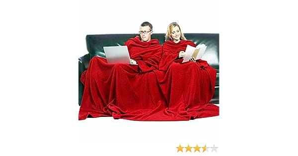 Manta con mangas sofa bata bolsillo para mando libro talla única: Amazon.es: Hogar