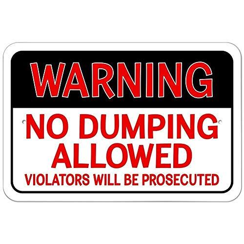 警告ダンピング禁止 金属板ブリキ看板注意サイン情報サイン金属安全サイン警告サイン表示パネル