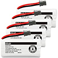 iMah Ryme B4-1 BT-1021 Rechargeable Battery for Uniden BBTG0798001 BBTG0847001 Cordless Handset (Pack of 4)