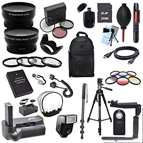 Nikon D3000, D3100, D3200, D3300 Digital SLR Deluxe Camera Accessory Bundle (Fits: 50MM F/1.8D, 35MM F/1.8G, 18-55MM F/3.5-5 ED, 50MM F/1.4D, 55-200MM F/4-5.6G, 35MM F/2D, 85MM F/3.5G)
