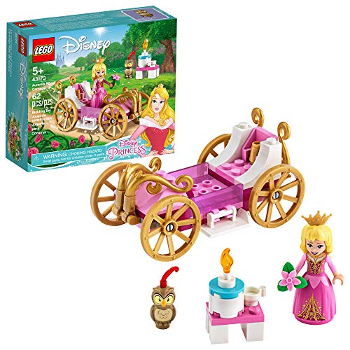 LEGO Disney Aurora's Royal Carriage 43173 Creative Princess Building Kit, New 2020 (62 Pieces)