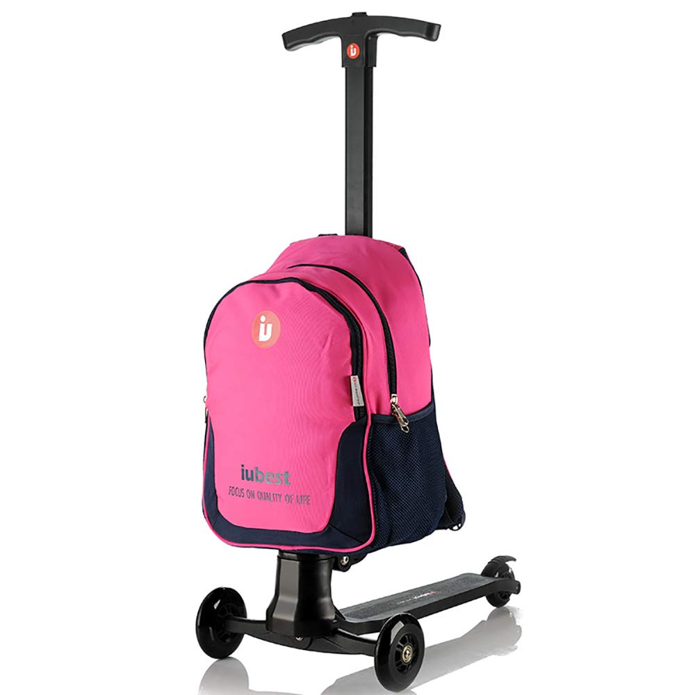 Amazon.com : Boys Girls Suitcase Scooter Trolley Hand Luggage- Durable Heavy Duty 50Kg Reflective Riding Trolley Case- Can Turn Car, Blue : Sports & ...