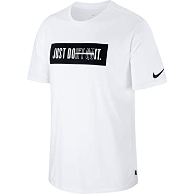 Nike Herren Don't Quit T Shirt, WhiteBlack, XXL: